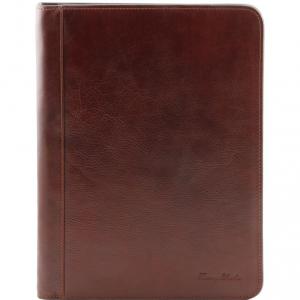Tuscany Leather TL141293 Lucio - Exclusif porte-document en cuir avec anneaux Marron