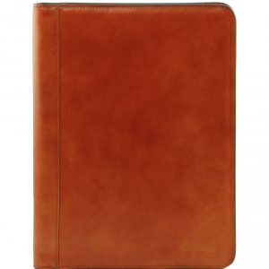 Tuscany Leather TL141293 Lucio - Esclusivo portadocumenti in pelle con anelli Miele