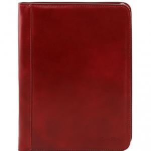 Tuscany Leather TL141294 Ottavio - Esclusivo portadocumenti in pelle Rosso