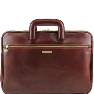 Tuscany Leather TL141324 Caserta - Serviette Porte-documents en cuir Marron