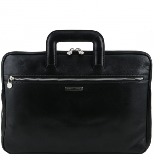 Tuscany Leather TL141324 Caserta - Document Leather briefcase Black
