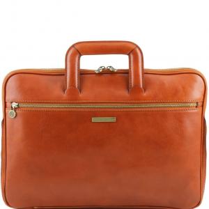 Tuscany Leather TL141324 Caserta - Serviette Porte-documents en cuir Miel