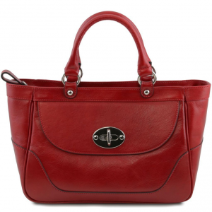 Tuscany Leather TL141226 TL NeoClassic - Borsa a mano media in pelle Rosso
