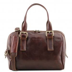 Tuscany Leather TL141714 Eveline - Bauletto in pelle Marrone
