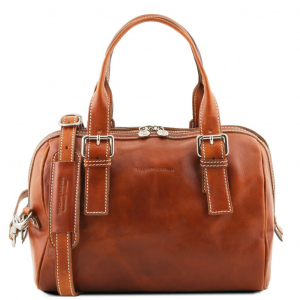 Tuscany Leather TL141714 Eveline - Leather duffle bag Honey