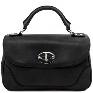 Tuscany Leather TL141227 TL NeoClassic - Bauletto piccolo in pelle Nero