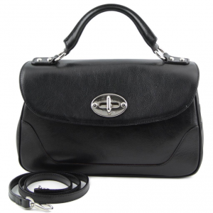 Tuscany Leather TL141227 TL NeoClassic - Lady leather duffel bag Black