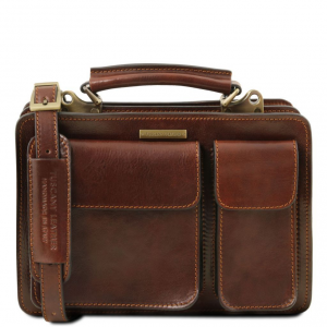 Tuscany Leather TL141270 Tania - Leather lady handbag Brown