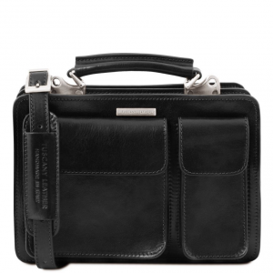 Tuscany Leather TL141270 Tania - Leather lady handbag Black