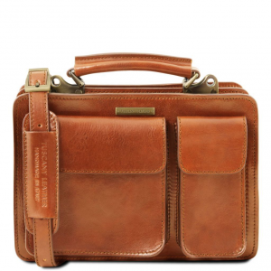 Tuscany Leather TL141270 Tania - Leather lady handbag Honey