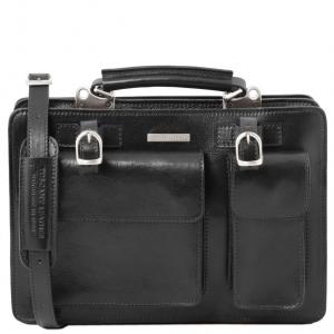 Tuscany Leather TL141269 Tania - Leather lady handbag - Large size Black