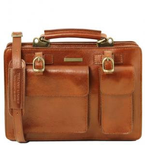 Tuscany Leather TL141269 Tania - Leather lady handbag - Large size Honey