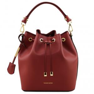 Tuscany Leather TL141531 Vittoria - Leather secchiello bag Red