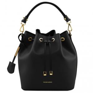 Tuscany Leather TL141531 Vittoria - Leather secchiello bag Black