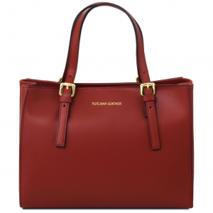 Tuscany Leather TL141434 Aura - Leather handbag Red