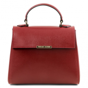 Tuscany Leather TL141628 TL Bag  - Bauletto piccolo in pelle Saffiano Rosso