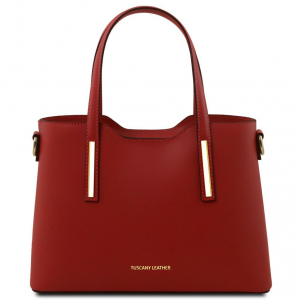 Tuscany Leather TL141521 Olimpia - Leather tote - Small size Red