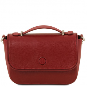 Tuscany Leather TL141725 Primula - Pochette in pelle Rosso