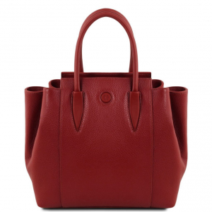 Tuscany Leather TL141727 Tulipan - Leather handbag Red