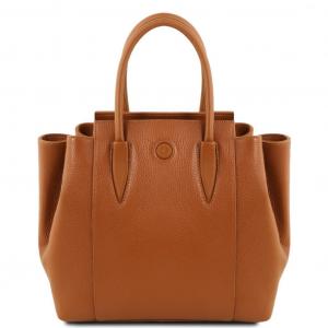 Tuscany Leather TL141727 Tulipan - Sac à main en cuir Cognac