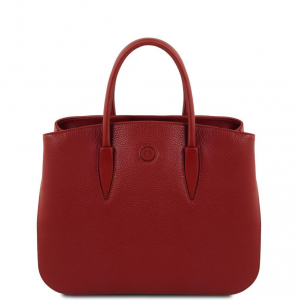 Tuscany Leather TL141728 Camelia - Leather handbag Red