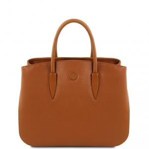 Tuscany Leather TL141728 Camelia - Sac à main en cuir Cognac