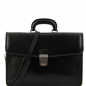 Tuscany Leather TL10050 Amalfi - Leather briefcase 1 compartment Black