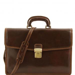 Tuscany Leather TL10050 Amalfi - Cartella in pelle 1 scomparto Testa di Moro