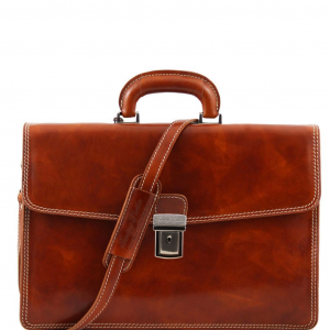 Tuscany Leather TL10050 Amalfi - Leather briefcase 1 compartment Honey