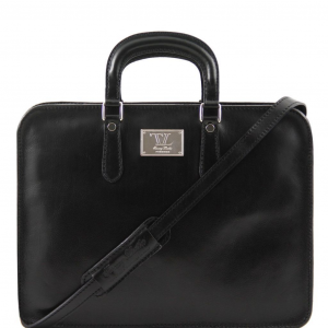 Tuscany Leather TL140961 Alba - Women's Leather briefcase 1 compartment Black