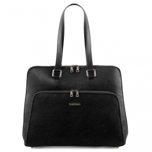 Tuscany Leather TL141630 Lucca - Borsa business TL SMART in pelle morbida per donna Nero