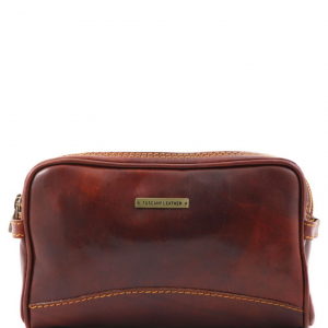 Tuscany Leather TL140850 Igor - Trousse de toilette en cuir Marron