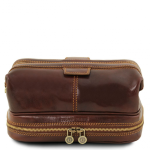 Tuscany Leather TL141717 Patrick - Leather toilet bag Brown
