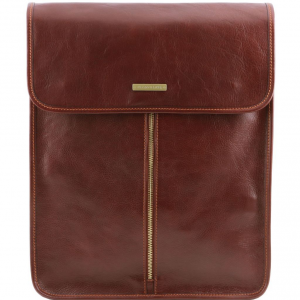 Tuscany Leather TL141307 Exclusive leather shirt case Brown