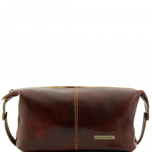 Tuscany Leather TL140349 Roxy - Leather toilet bag Brown
