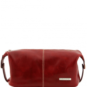 Tuscany Leather TL140349 Roxy - Trousse de toilette en cuir Rouge