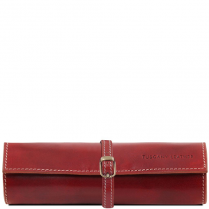Tuscany Leather TL141621 Exclusif trousse à bijoux en cuir Rouge