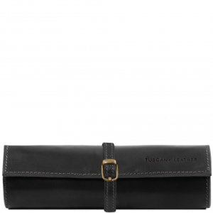 Tuscany Leather TL141621 Exclusif trousse à bijoux en cuir Noir