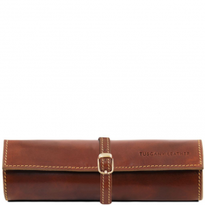 Tuscany Leather TL141621 Esclusivo portagioie in pelle Marrone