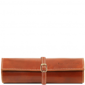 Tuscany Leather TL141621 Exclusif trousse à bijoux en cuir Miel