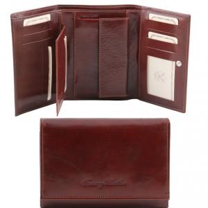 Tuscany Leather TL141314 Elégant portefeuille en cuir pour femme Marron