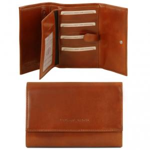Tuscany Leather TL140796 Elégant portefeuille en cuir pour femme Miel