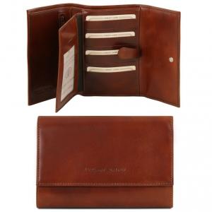 Tuscany Leather TL140796 Elégant portefeuille en cuir pour femme Marron