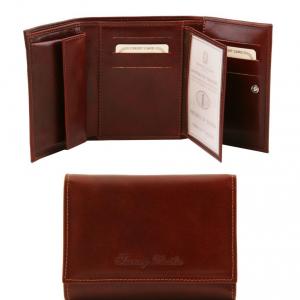 Tuscany Leather TL140790 Elégant portefeuille en cuir pour femme Marron