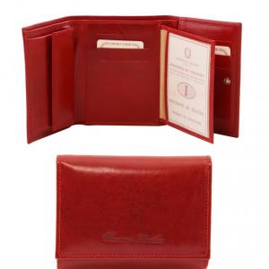 Tuscany Leather TL140790 Elégant portefeuille en cuir pour femme Rouge