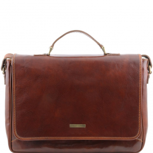 Tuscany Leather TL140891 Padova - Exclusive leather laptop case Brown