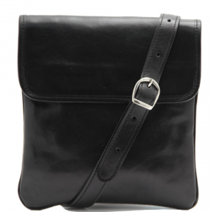 Tuscany Leather TL140987 Joe - Leather Crossbody Bag Black