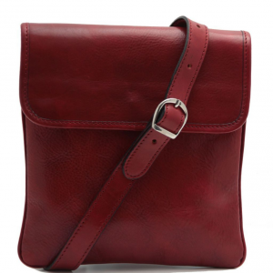 Tuscany Leather TL140987 Joe - Leather Crossbody Bag Red