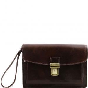 Tuscany Leather TL8075 Max - Sacoche en cuir Marron foncé