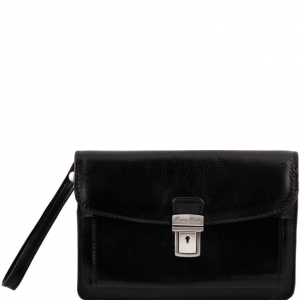Tuscany Leather TL8075 Max - Sacoche en cuir Noir